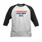 Awesome end with Me Kids Baseball Jersey