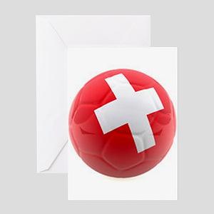 Switzerland World Cup Ball Greeting Card