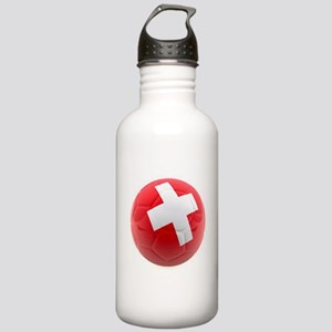 Switzerland World Cup Ball Stainless Water Bottle