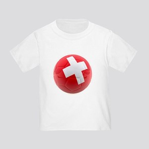 Switzerland World Cup Ball Toddler T-Shirt