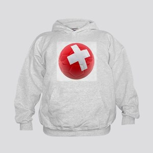 Switzerland World Cup Ball Kids Hoodie