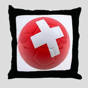 Switzerland World Cup Ball Throw Pillow