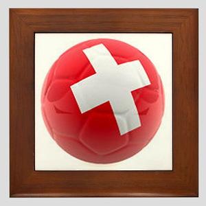 Switzerland World Cup Ball Framed Tile