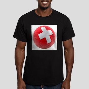 Switzerland World Cup Ball Men's Fitted T-Shirt (d