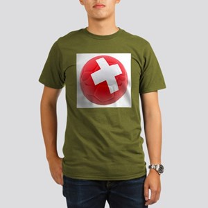Switzerland World Cup Ball Organic Men's T-Shirt (