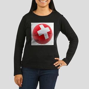 Switzerland World Cup Ball Women's Long Sleeve Dar