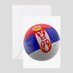 Serbia World Cup Ball Greeting Card