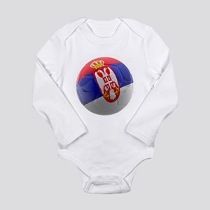 Serbia World Cup Ball Long Sleeve Infant Bodysuit