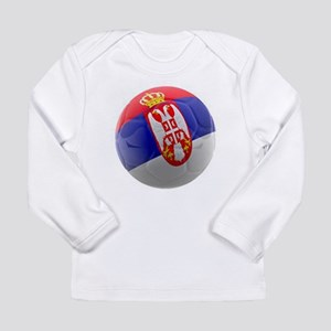 Serbia World Cup Ball Long Sleeve Infant T-Shirt