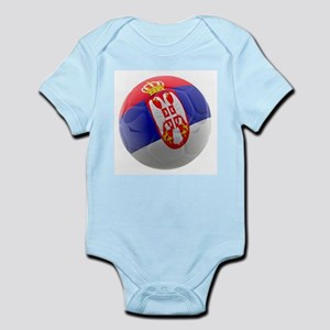 Serbia World Cup Ball Infant Bodysuit