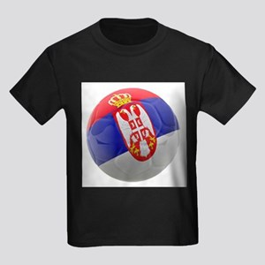 Serbia World Cup Ball Kids Dark T-Shirt