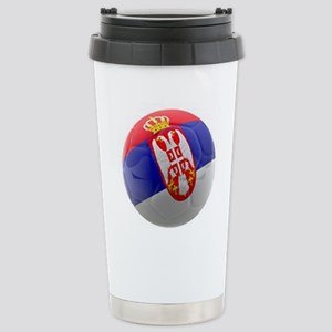 Serbia World Cup Ball Stainless Steel Travel Mug