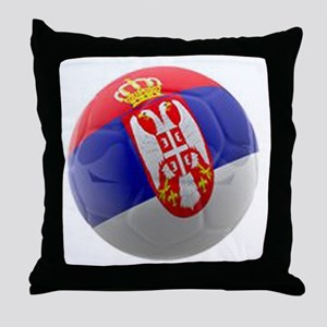 Serbia World Cup Ball Throw Pillow