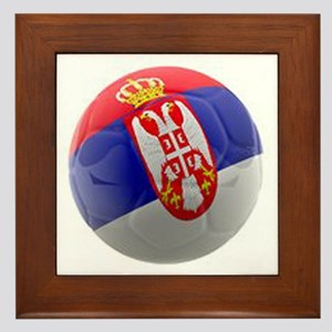 Serbia World Cup Ball Framed Tile