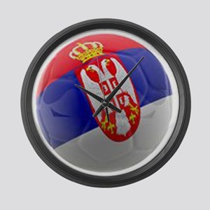 Serbia World Cup Ball Large Wall Clock