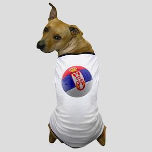 Serbia World Cup Ball Dog T-Shirt