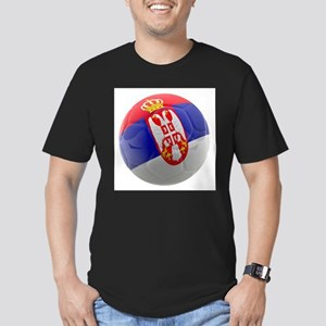 Serbia World Cup Ball Men's Fitted T-Shirt (dark)