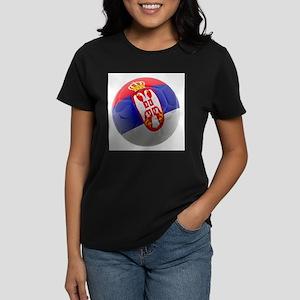 Serbia World Cup Ball Women's Dark T-Shirt