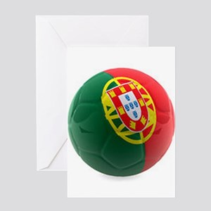 Portugal World Cup Ball Greeting Card