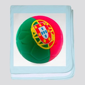 Portugal World Cup Ball baby blanket