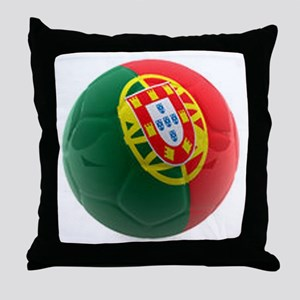 Portugal World Cup Ball Throw Pillow