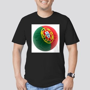 Portugal World Cup Ball Men's Fitted T-Shirt (dark