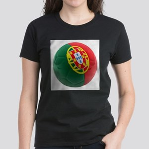 Portugal World Cup Ball Women's Dark T-Shirt