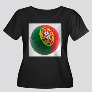 Portugal World Cup Ball Women's Plus Size Scoop Ne