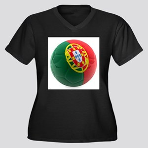 Portugal World Cup Ball Women's Plus Size V-Neck D