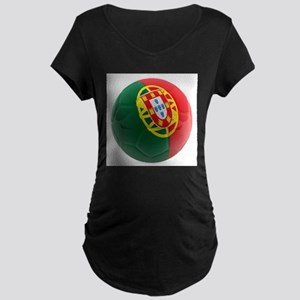 Portugal World Cup Ball Maternity Dark T-Shirt