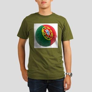 Portugal World Cup Ball Organic Men's T-Shirt (dar