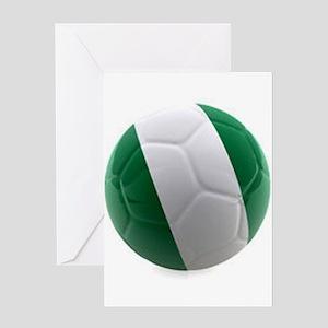 Nigeria World Cup Ball Greeting Card