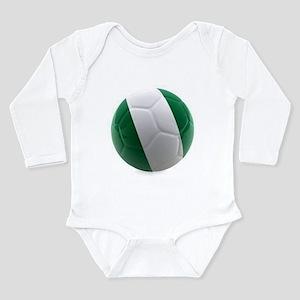 Nigeria World Cup Ball Long Sleeve Infant Bodysuit