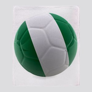 Nigeria World Cup Ball Throw Blanket