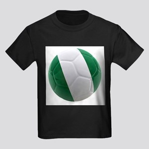 Nigeria World Cup Ball Kids Dark T-Shirt