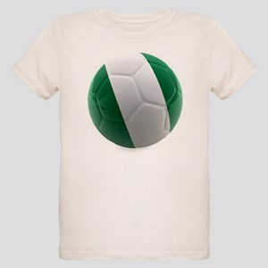 Nigeria World Cup Ball Organic Kids T-Shirt