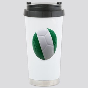 Nigeria World Cup Ball Stainless Steel Travel Mug