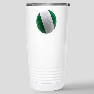 Nigeria World Cup Ball Stainless Steel Travel Mug