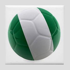 Nigeria World Cup Ball Tile Coaster