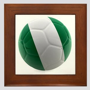 Nigeria World Cup Ball Framed Tile