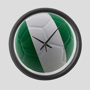 Nigeria World Cup Ball Large Wall Clock