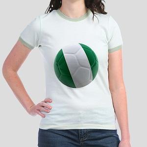 Nigeria World Cup Ball Jr. Ringer T-Shirt