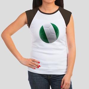 Nigeria World Cup Ball Women's Cap Sleeve T-Shirt