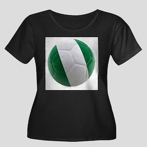 Nigeria World Cup Ball Women's Plus Size Scoop Nec