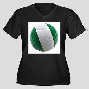 Nigeria World Cup Ball Women's Plus Size V-Neck Da