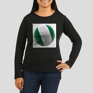 Nigeria World Cup Ball Women's Long Sleeve Dark T-