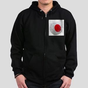 Japan World Cup Ball Zip Hoodie (dark)