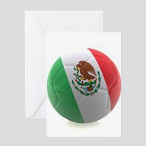 Mexico World Cup Ball Greeting Card