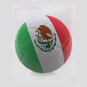 Mexico World Cup Ball Throw Blanket