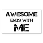 Awesome end with Me Sticker (Rectangle 10 pk)
